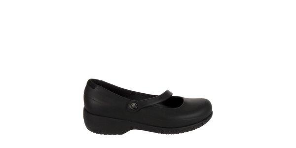 4f2852b00b7 Dámské černé baleríny Crocs s platformou