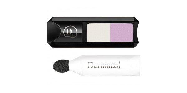 Dermacol oční stín DUO s aplikátorem - č.1 bílá-růžová 1,8g
