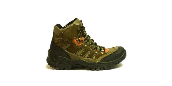 Dámské kotníkové trekové boty Numero Uno - hnědé