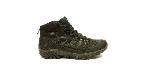 Pánské kotníkové černé trekové boty na zimu Numero Uno