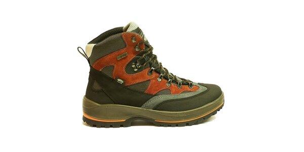 Pánské vícebarevné trekové boty v kotníkové výšce Numero Uno