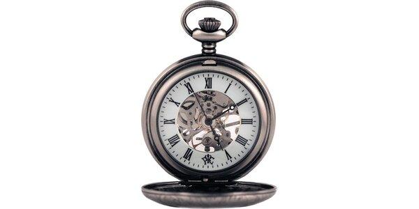 Pánské kapesní hodinky Renaissance ocelové barvy
