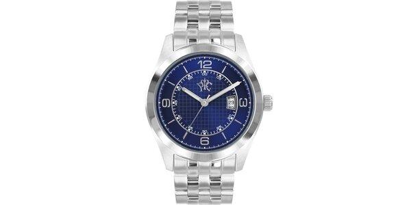 Pánské hodinky v elegantně sportovním stylu Race, s modrým ciferníkem