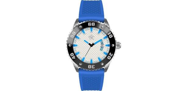 Pánské hodinky v sportovním stylu, Rally modré