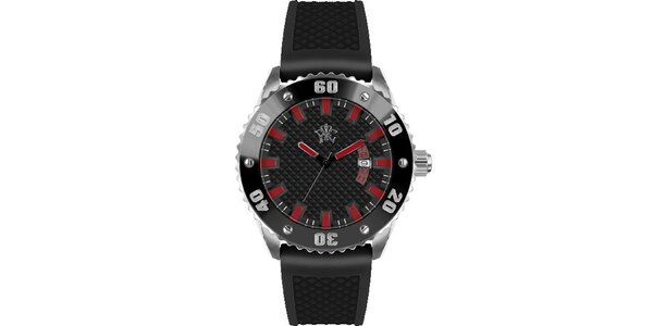 Pánské hodinky v sportovním stylu, Rally černé
