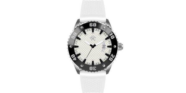 Pánské hodinky v sportovním stylu, Rally bílé
