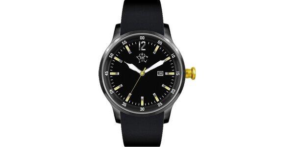 Pánské hodinky Adrenalin černé pro extrémní životní styl