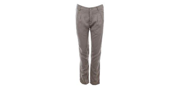 Dámské světle šedé kalhoty s kapsami Gaudí
