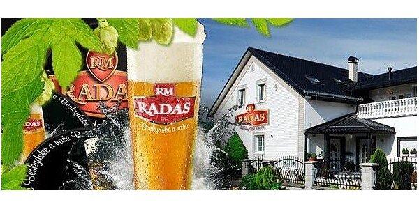 Prohlídka pivovaru Radas s možností ochutnávky 18 druhů piv