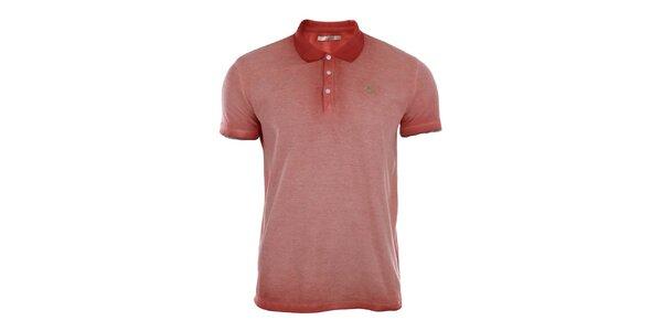 Pánské červené vyšisované polo tričko Gaudí