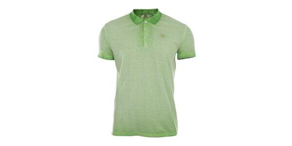 Pánské zelené vyšisované polo tričko Gaudí