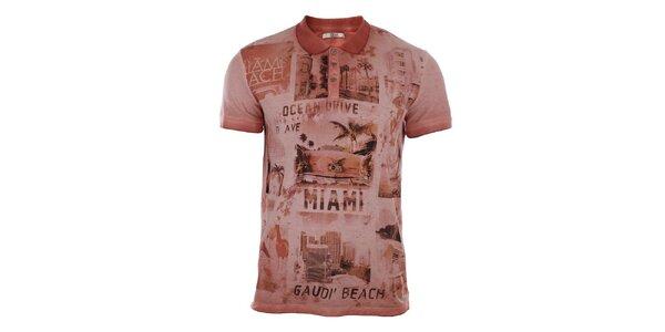 Pánské polo tričko s potiskem Gaudí