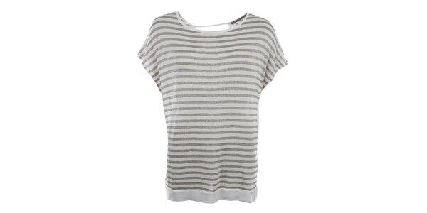 Dámské pruhované volné tričko Gaudí