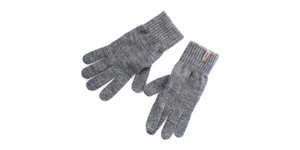 Pánské šedé rukavice Gaudí