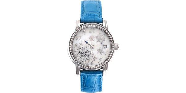 RFS dámské hodinky Russian Winter modré s perleťovým ciferníkem