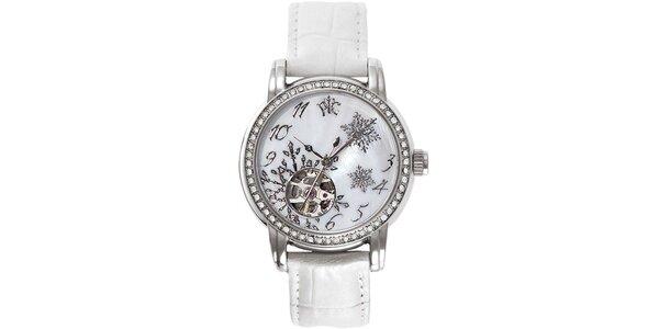RFS dámské hodinky Russian Winter bílé s perleťovým ciferníkem
