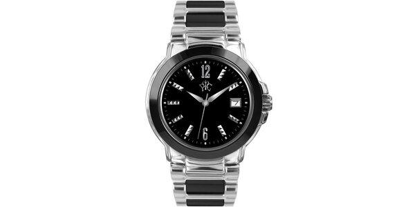 RFS dámské hodinky Yin Yang s černým ciferníkem