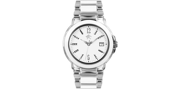 RFS dámské hodinky Yin Yang s bílým ciferníkem