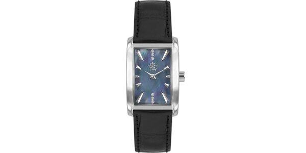 842962cff RFS dámské hodinky Prima s černým řemínkem a ciferníkem stříbrné barvy