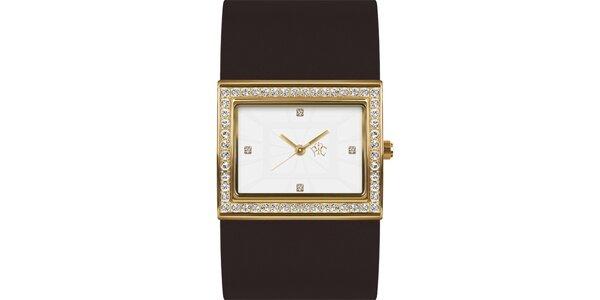 RFS dámské hodinky Labyrinth s hnědým řemínkem