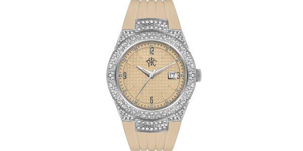RFS dámské hodinky Velvet béžové