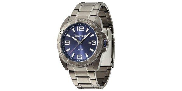 Pánské hodinky z nerezové oceli s modrým ciferníkem Timberland b1cb90a79a