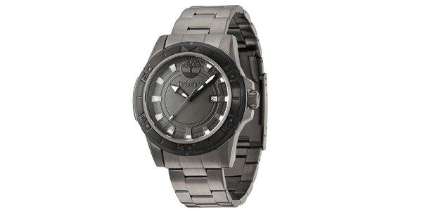 Pánské tmavé ocelové hodinky Timberland