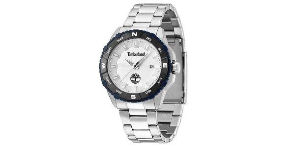 Pánské ocelové hodinky s datumovkou Timberland