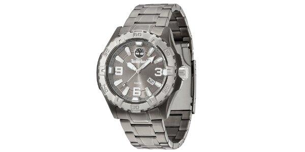Pánské šedé ocelové hodinky Timberland be39461f9a