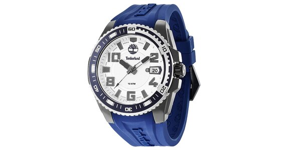 Pánské hodinky s modrým řemínkem Timberland