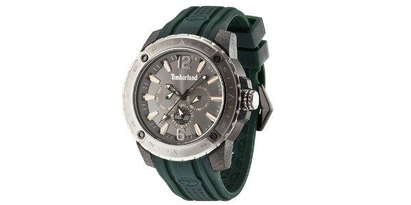 Pánské hodinky se zeleným řemínkem Timberland