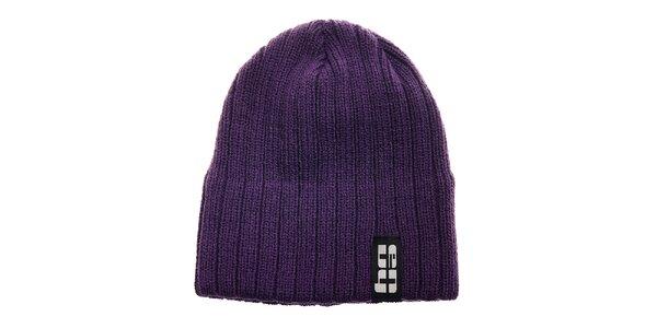Dámská fialová pletená čepice Envy