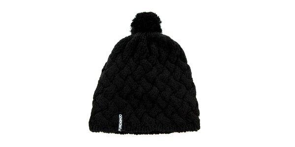 Dámská černá pletená čepice Fundango