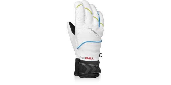 Dámské bílé softshellové rukavice Reusch s membránou