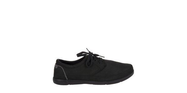 Pánské černé kožené polobotky Crocs