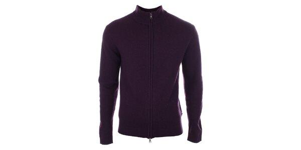 Pánský fialový svetr z vlny Pietro Filipi