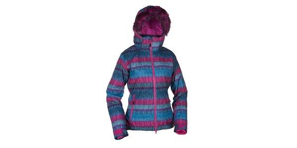 Dámská modro-růžová lyžařská bunda Envy