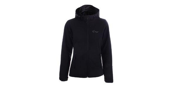 Dámská černá softshellová bunda s kapucí Envy