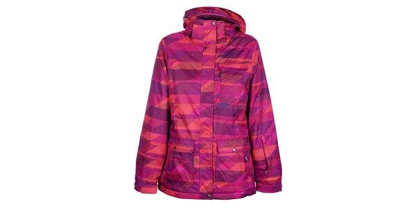 Dámská růžová lyžařská bunda Fundango s potiskem