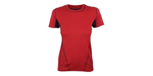 Dámské červeno-černé funkční tričko Hannah