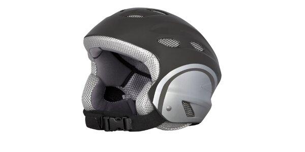 Dámská stříbrná lyžařská helma Husky