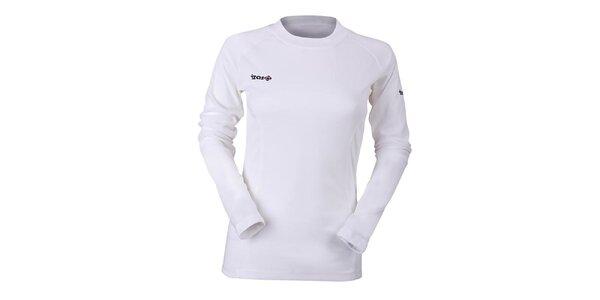 Dámské bílé funkční tričko s dlouhým rukávem Izas