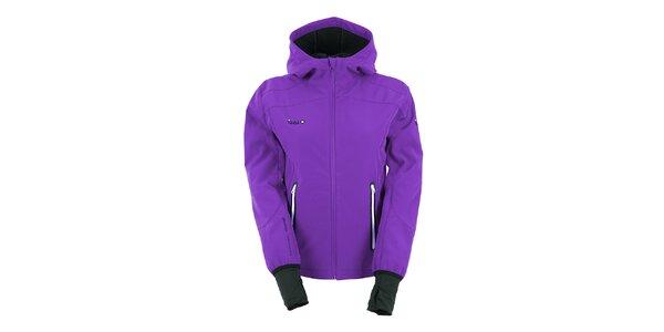 Dámská fialová softshellová bunda s kapucí Izas