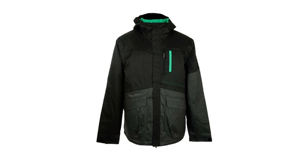 Pánská černo-šedá lyžařská bunda Loap