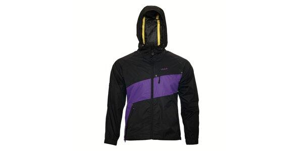 Dámská streetová jarní bunda Humdrum Clare v černofialové barevné kombinaci