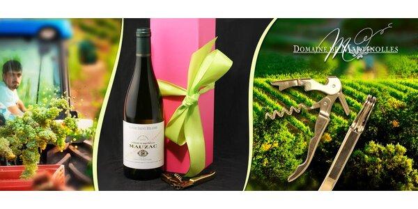 Víno Domaine de Martinolles + otvírák v dárkovém boxu