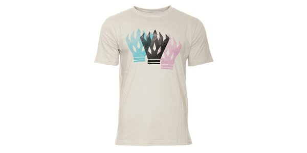 Šedé pánské tričko Humdrum Fussy s potiskem