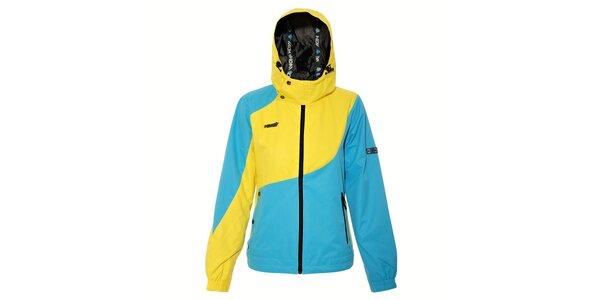 Dámská jarní bunda Humdrum Jeen v modrožluté barvě