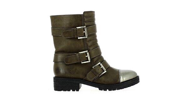 Dámské kotníkové boty s přezkami Shoes and the City