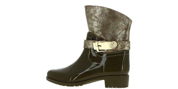 Dámské kotníkové boty s patinou Shoes and the City